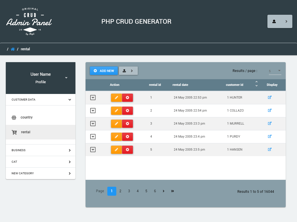 Bootstrap 4 Dashboard Generator - PHP CRUD Operations | PHPCG