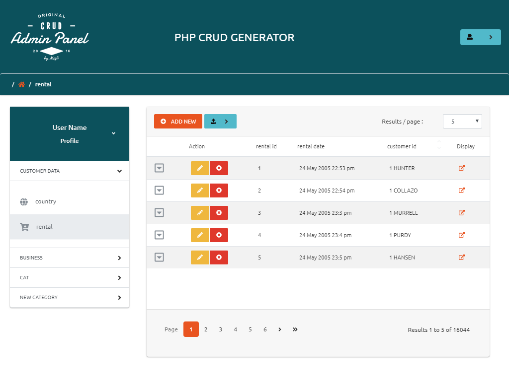 Bootstrap Admin Panel CRUD in PHP - PHP MySQL CRUD Generator