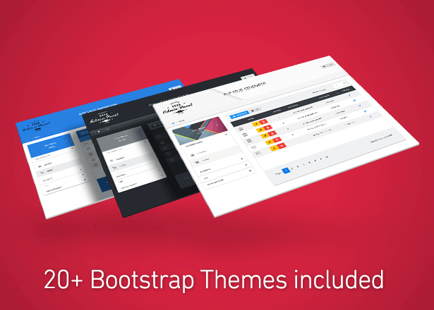 20+ Bootstrap themes included
