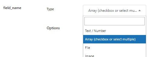 checkbox or select multiple